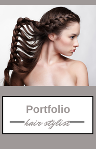 Start your professional hair stylist portfolio today for Cosmetology portfolio template
